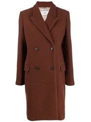 Closed Double Breasted Midi Coat Brown