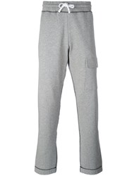 Futur Flap Pocket Sweatpants Men Cotton L Grey