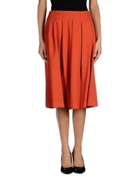 Devotion Knee Length Skirts Orange