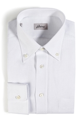 Brioni Classic Linen Long Sleeve Button Down