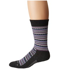 Feetures Horizon Cushion Crew Sock Charcoal Crew Cut Socks Shoes Gray