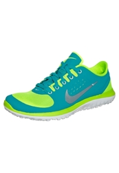 Nike Performance Fs Lite Run Lightweight Running Shoes Volt Metallic Platinum Turbo Green Yellow