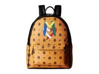 Love Moschino Monogram Backpack Orange Brown Backpack Bags