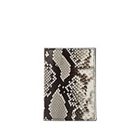 Barneys New York Stamped Leather Passport Case Neutral