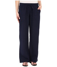 Allen Allen Linen Long Cargo Pants Lapis Women's Casual Pants Navy