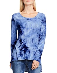 Vince Camuto Tie Dye Ribbed Tunic Blue