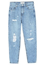 Mango Relaxed Fit Jeans Light Blue