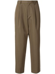 Kolor Tailored Pleat Detailed Trousers Green