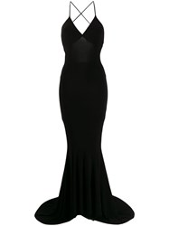 Norma Kamali Fitted Evening Dress Black
