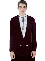 Lanvin Velvet Blazer Jacket Purple