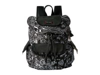Sakroots Artist Circle Flap Backpack Metallic Songbird Backpack Bags Black