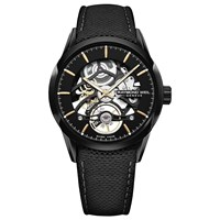 Raymond Weil 2785 Bc5 20001 'S Freelancer Automatic Skeleton Carbon Fibre Leather Strap Watch Black