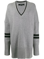 Barbara Bui Oversized Knitted Jumper Grey