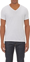 Barneys New York Basic V Neck T Shirt White