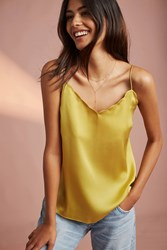 Anthropologie Scalloped Cami Chartreuse