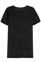 Agnona Top With Pleated Back Panel Black