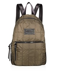 John Varvatos Star Usa Quilted Nylon Backpack Army Green