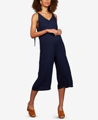 A Pea In The Pod Maternity V Neck Jumpsuit Navy