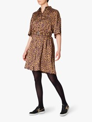 Paul Smith Ps Leopard Print Dress Brown Multi