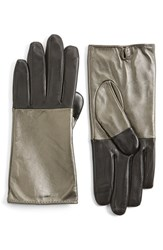 Women's Echo 'Touch Colorblock' Leather Gloves