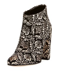 Sam Edelman Cambell Damask Ankle Boot Black Gold