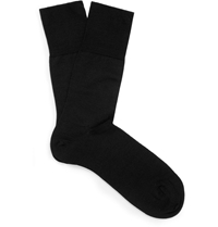 Falke Black Merino Wool Blend Socks