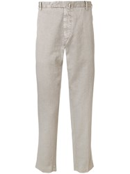Dell'oglio Slim Fit Cropped Trousers Grey
