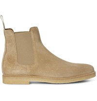 Common Projects Suede Chelsea Boots Beige