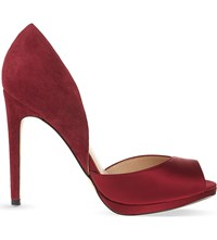 Reiss Minuet Peep Toe Court Shoes Bordeaux
