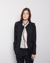 Maison Martin Margiela Line 1 Unfinished Two Piece Blazer Black