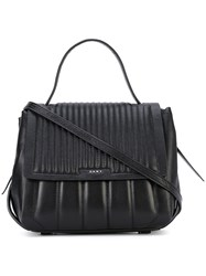 Dkny Quilted Shoulder Bag Women Leather One Size Black