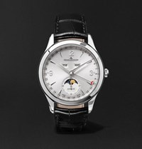 Jaeger Lecoultre Master Calendar Stainless Steel And Alligator Watch White