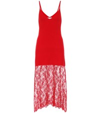 Ryan Roche Cashmere And Silk Dress Red
