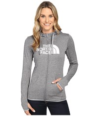 The North Face Fave Half Dome Full Zip Hoodie Tnf Medium Grey Heather Tnf White Women's Sweatshirt Gray