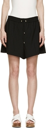 Acne Studios Black Bi Stretch Relaxed Fit Elzie Shorts