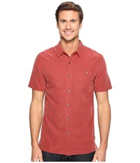 Royal Robbins Mojave Desert Pucker S S Dark Paprika Men's Short Sleeve Button Up Orange