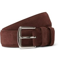 Loro Piana 3.5Cm Brown Suede Belt Brown