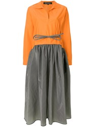 Ter Et Bantine Two Tone Midi Dress Yellow And Orange