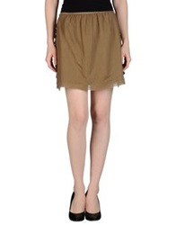 Swildens Mini Skirts Khaki