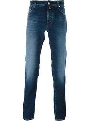 Jacob Cohen Stonewash Straight Leg Jeans Blue
