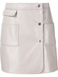 Courra Ges Off Centre Fastening Skirt Nude And Neutrals