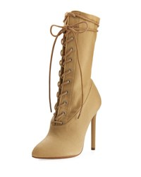 Yeezy Stretch Canvas Lace Up Boot Beige