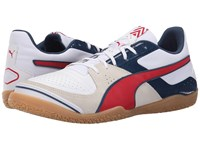 Puma Invicto Sala White High Risk Red Blue Wing Teal Men's Soccer Shoes