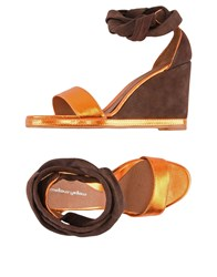 Mellow Yellow Sandals Dark Brown