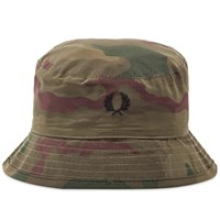 Fred Perry X Arktis Camo Bucket Hat Green