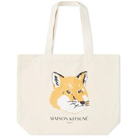 Maison Kitsune Fox Head Tote Bag Neutrals