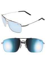 Men's Revo 'Groundspeed' 59Mm Polarized Aviator Sunglasses Chrome Blue Water