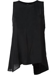 Lost And Found Ria Dunn Pleated Back Tank Top Black