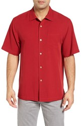Tommy Bahama Men's Big And Tall 'Catalina Twill' Short Sleeve Silk Camp Shirt Jester Red
