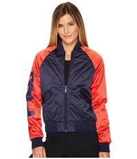 Fila Petra Quilted Jacket Navy Red White Women's Coat Blue
